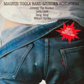 Skivomslag till Magnus Uggla band sjunger schlagers